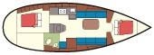 Bavaria 30 Cruiser - plattegrond