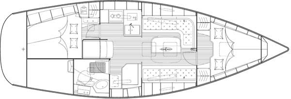 Bavaria 34 Cruiser - plattegrond