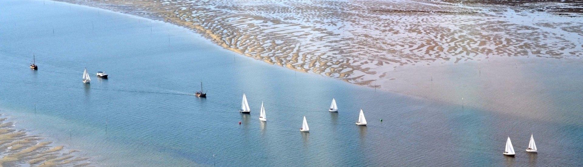 Zeilen op het Ijsselmeer, Waddenzee, Friese Meren, Zeeuwse wateren en de Noordzee.