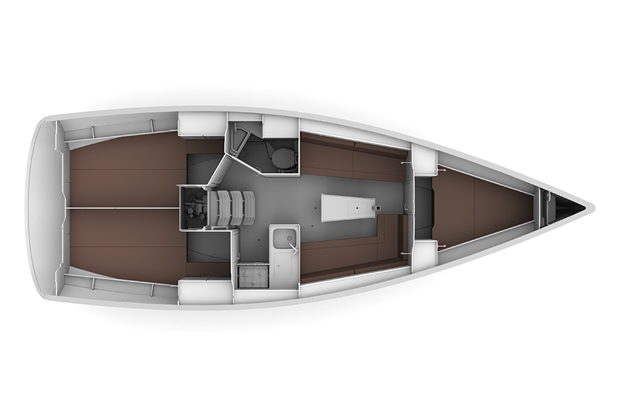 Bavaria 34 cruiser 2016 zeilboot huren enjoy sailing - Ruimte lay outs ...